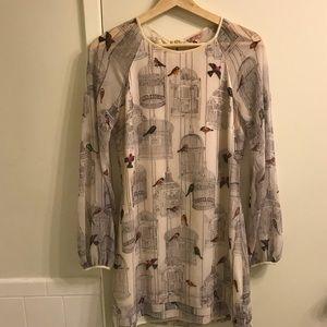 Ted Baker Birdcage print dress.